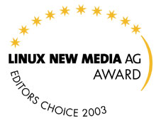 Linux New Media Award 2003
